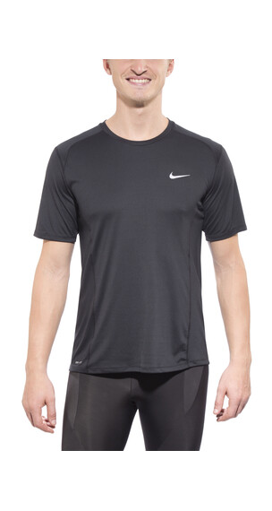 Nike Dri-FIT Miler SS Shirt Men Black/Reflective Silver